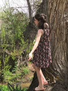 Floral Dress modeled by Margo Church
