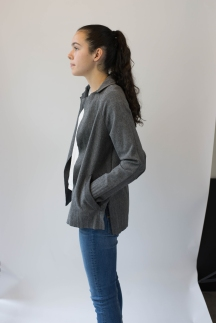 Edited Full Body Side View Wool Jacket