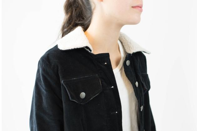 Edited Front Detal Cord Jacket