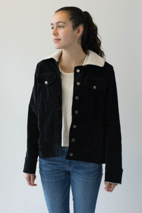 Edited Front View Courderoy Jacket